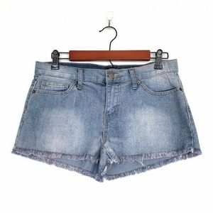 Forever 21 Blue Jean Denim Fray Hem Cutoff Shorts